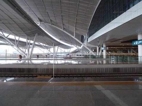 Wuhan railway station - platform canopies - Arep / MaP3