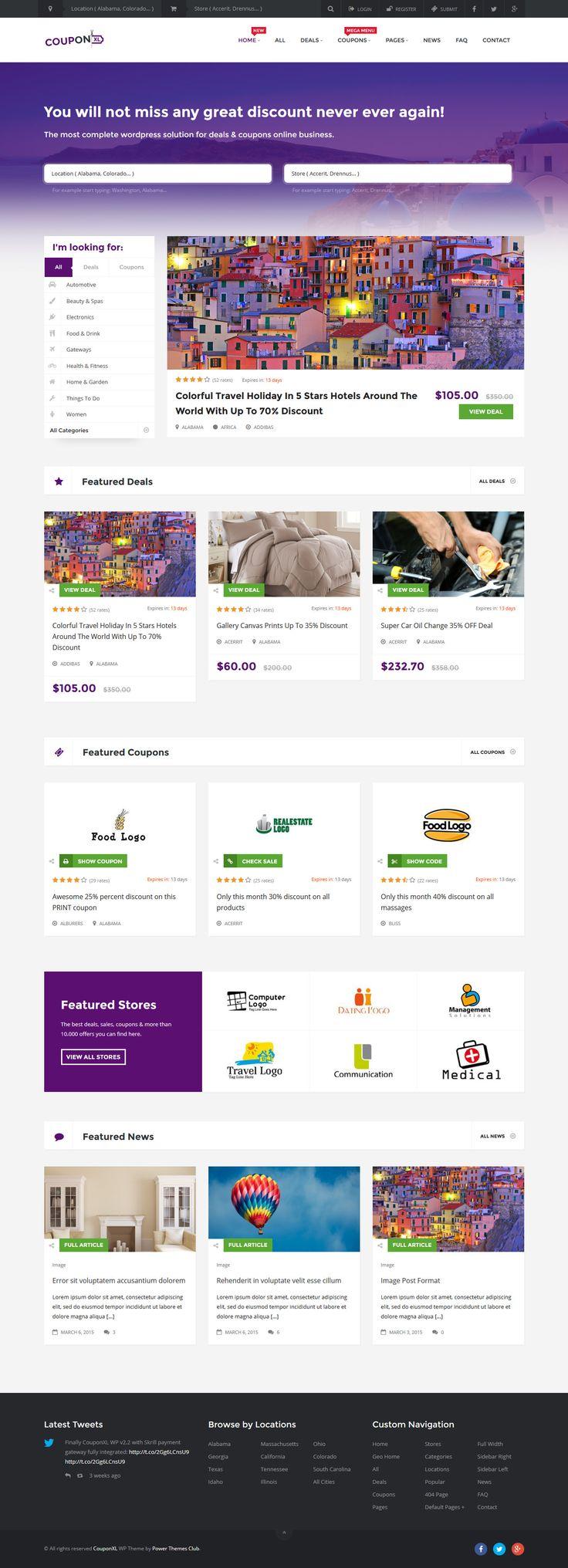 Couponxl coupons deals & discounts wp theme