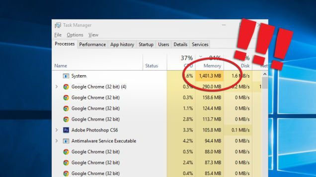 How to stop Windows 10's System process from eating up your RAM