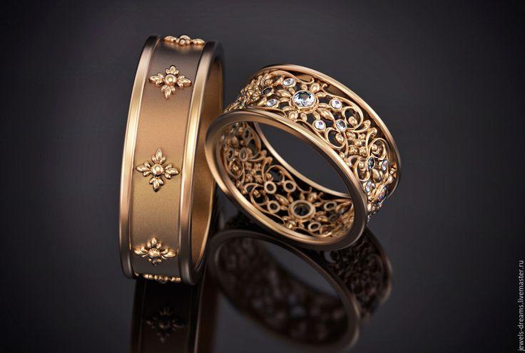 """Купить Обручальное кольцо """"Венецианское"""" - золотой, обручальные кольца, золотое кольцо, кольца из золота"""