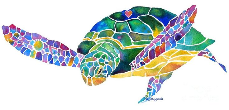Jo Lynch - Sea Turtle Celebration 4 Prints Only Painting  - Sea Turtle Celebration 4 Prints Only Fine Art Print