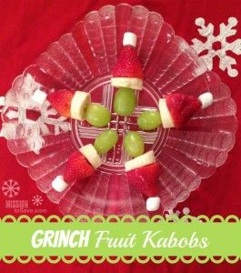 Grinch Fruit Kabobs - Mission: to Save