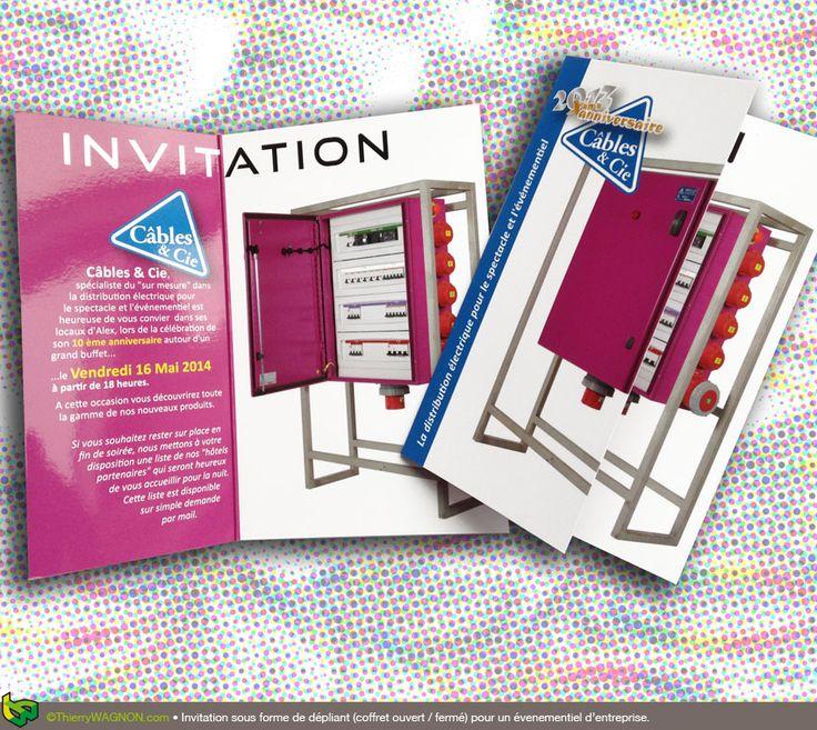 Conception et réalisation d'une invitation pour un événement d'entreprise.