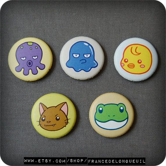 Ensemble de cinq aimants kawaii/Set of five kawaii magnets
