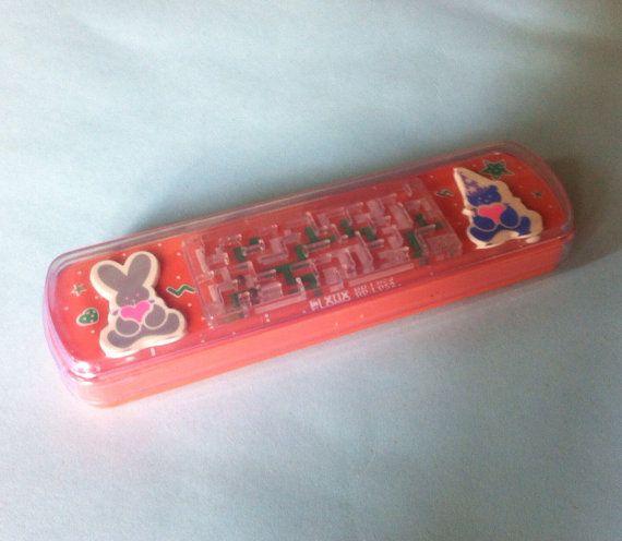 Flomo Game Pencil Case. Kawaii Pencil Box. Salmon by JirjiMirji