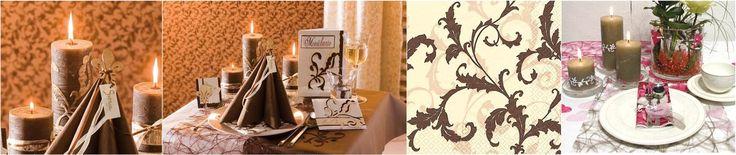 Brun - HOBBYKUNST Norge  - Dekk festbordet i brun farger med Table & Style serien. For flere bilder se: http://www.hobbykunst-norge.no/display.aspx?menuid=671