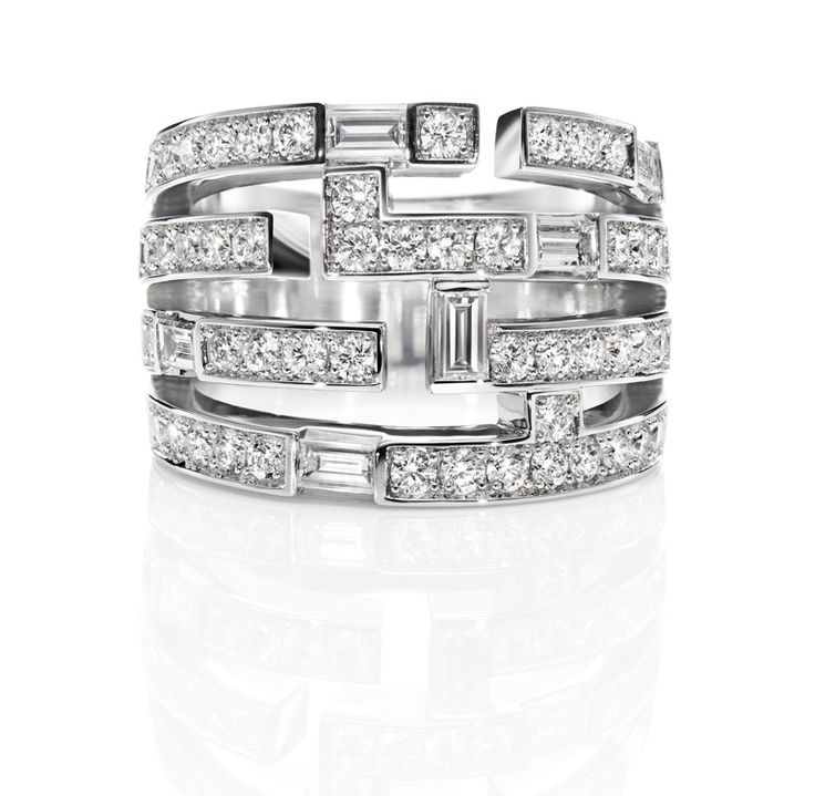Traffic by Harry Winston, Four Row Diamond Ring