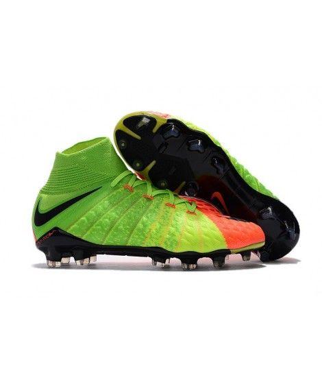 Nike Hypervenom Phantom III DF FG PEVNÝ POVRCH Zelená Černá Oranžový Kopačky