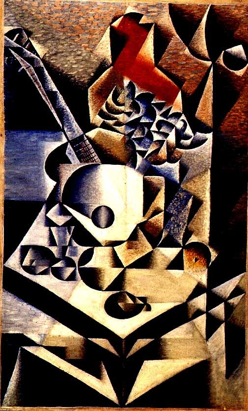 Juan Gris was the Third Musketeer of Cubism, and actually pushed Cubism further to its logical conclusion until his ultimely death in 1927 at the age of 39. His pictures are a joy to look at!