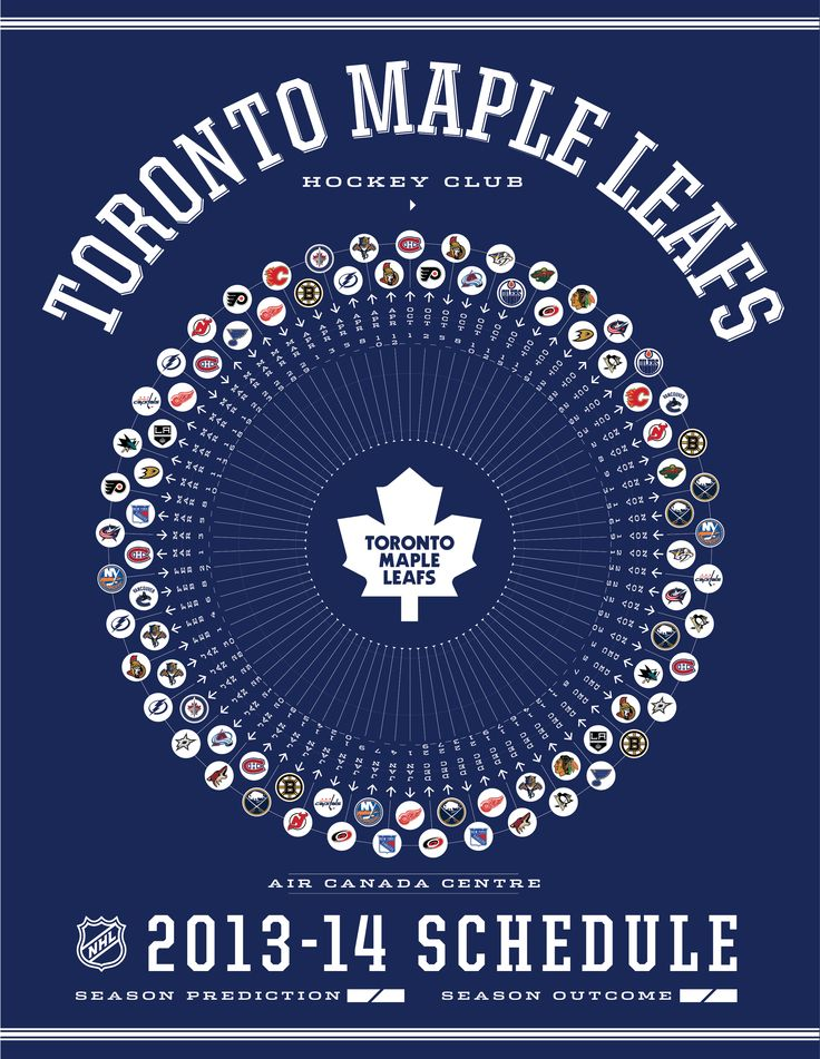 Toronto Maple Leafs 2013-14 Schedule