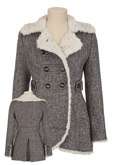 GUESS® Sherpa Trim Coat available at #Maurices | NF - Coats