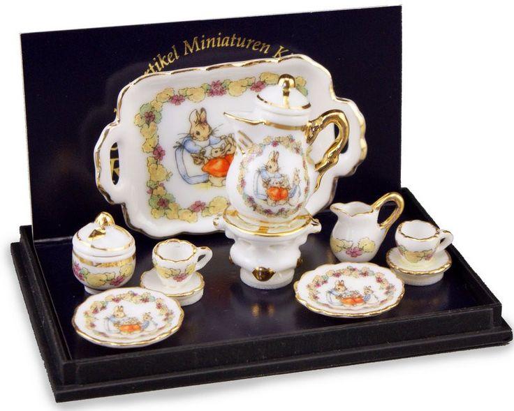 Beatrix Potter Miniature Coffee Set