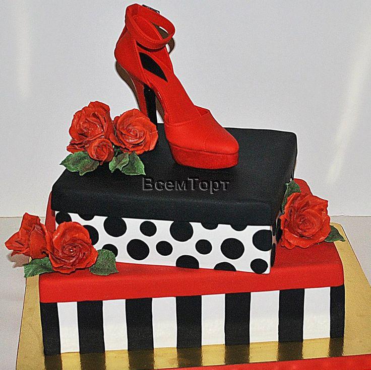Торт Красная туфелька. Торты на заказ в Москве для взрослых