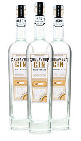 Endeavour Gin. 45 % ABV. Contemporary. A versatile London Dry Style Gin. It begins with 100% organic BC triple distilled wheat spirit. Using a botanical gin basket, an elaborate blend of (12) traditional botanicals (selected for their essential oil content) are then slowly infused during re-distillation in a single copper pot still.