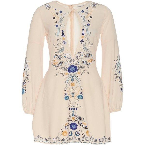 Harvest Moon Dress (1,235 MXN) ❤ liked on Polyvore featuring dresses, cream cocktail dress, cream dress, pink dress, creme dresses and pink cocktail dress