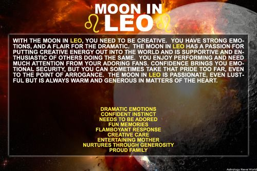 FYI all your bandmates have their moons in Leo.