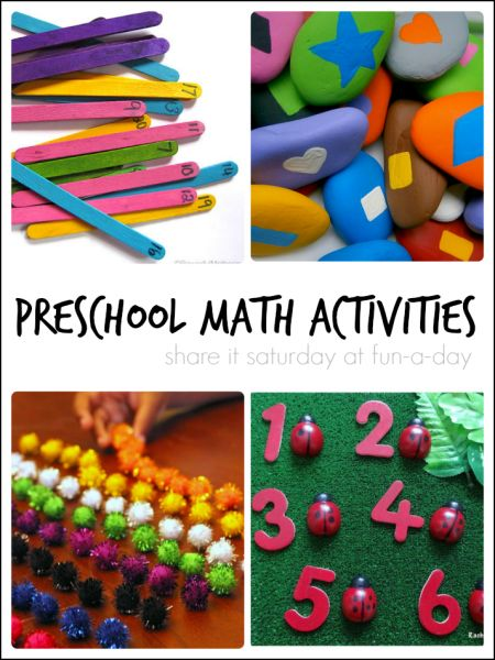preschool math activities at fun-a-day.com - great ideas here!