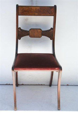 el_kin * gran juego de 6 sillas de estilo ingles talladas