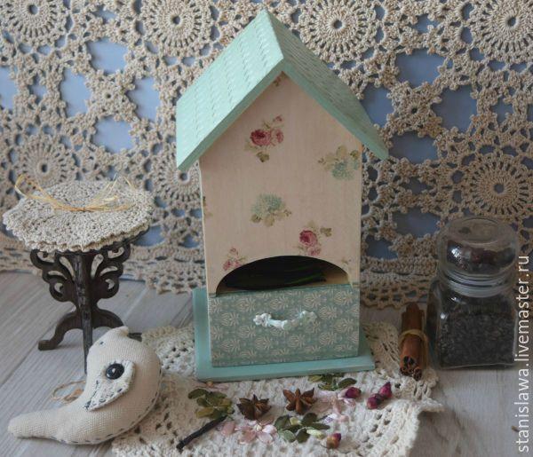 Купить Чайный домик - хранение чая, для чайных пакетиков, для чая, уютная кухня, чаепитие