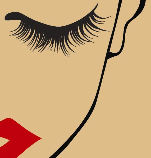 Lashes and lips poster #YSLLASHESOFLOVE #YSL would be fun for a vanity area / closet