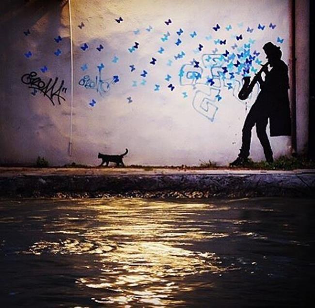 Sokakların Yeni Banksy'si Kenny Random'dan Etkileyici Sokak Sanatı Eserleri Sanatlı Bi Blog 1