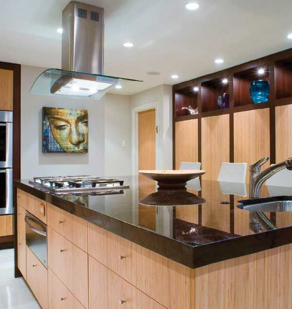 Cabinets Located Below The Island Allow Ample Storage