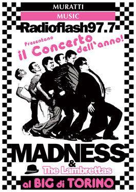 MADNESS THE LAMBRETTAS 1980 Torino Italy