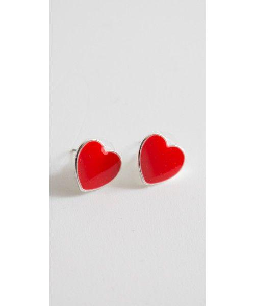 Orecchini a cuore disponibili in diversi colori in 100% metallo nickel free.