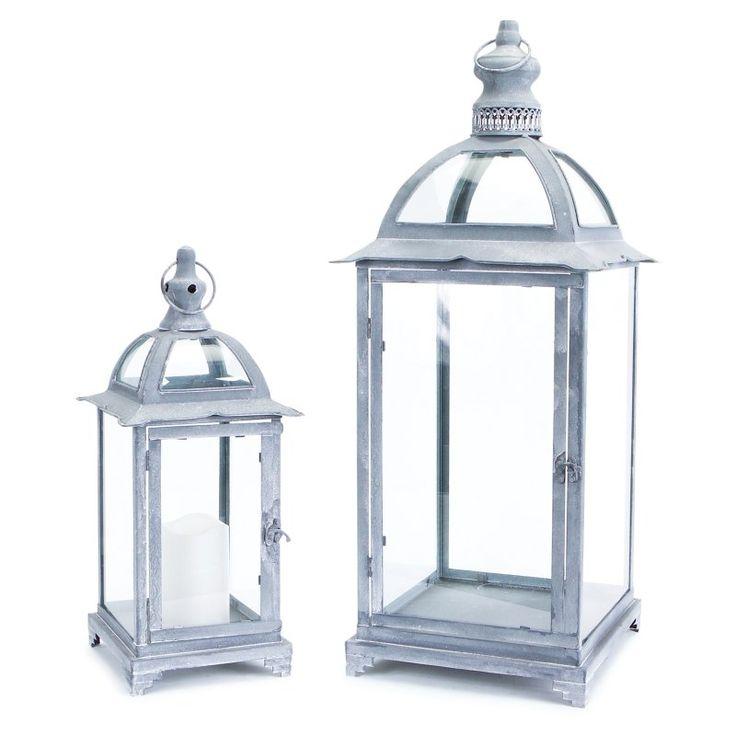 Melrose International Antique Lantern - Set of 2 - 53195