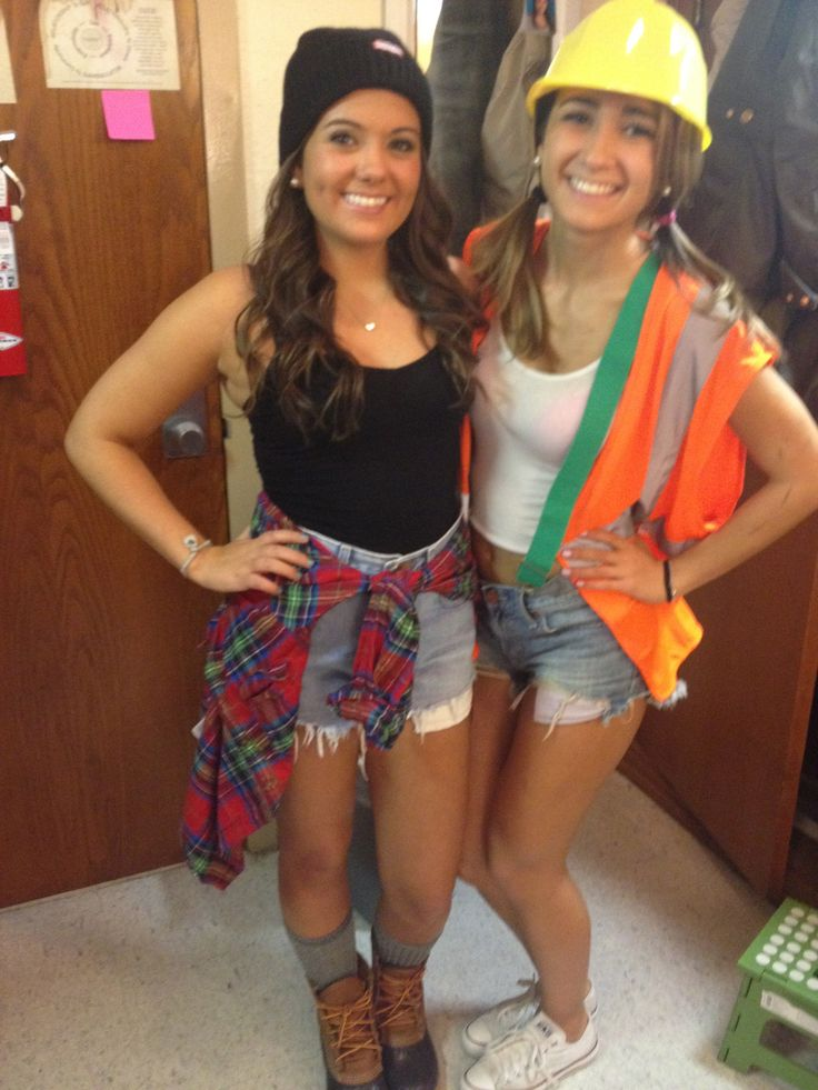 lumberjack and construction worker college halloween
