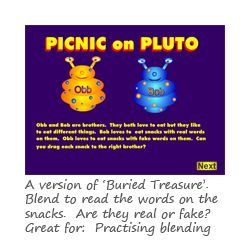 great online beginning reading games and printables!