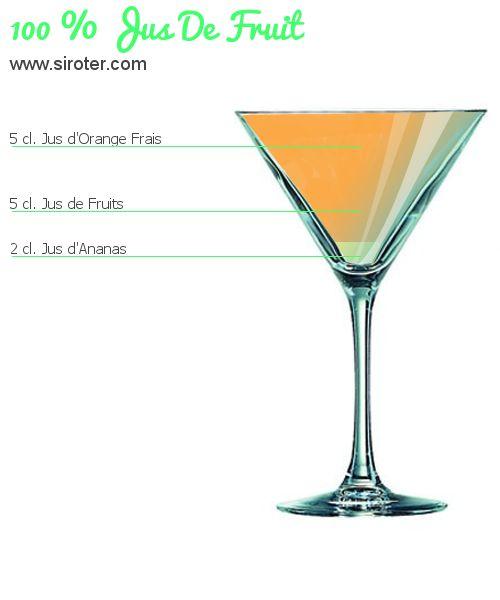 Cocktail 100 % jus de fruit