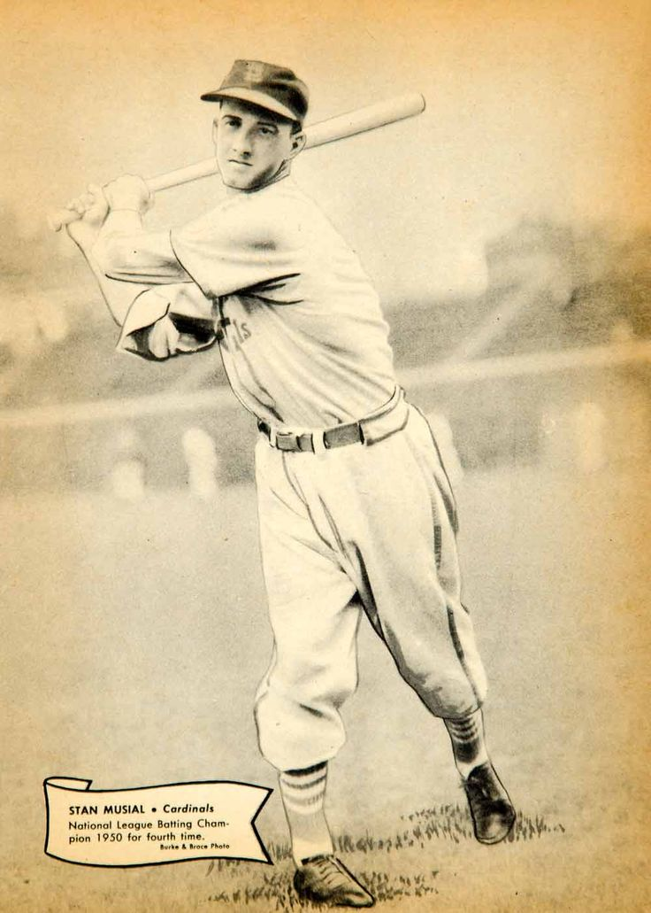 1951 Print Stan Musial Major League Baseball Player St Louis Cardinals Athlete  #vintage #baseball #vintagebaseball