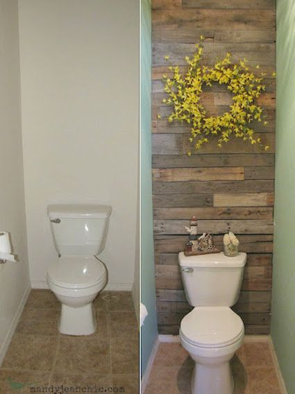 #13. Transform a wall in your home with recycled w…