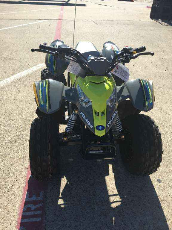 New 2017 Polaris Outlaw 50 Lime Squeeze ATVs For Sale in Texas. 2017 Polaris Outlaw 50 Lime Squeeze, 2017 Polaris Outlaw 50! THE all new cwicked color and great starter for all the kids 6 and up! Ever kid needs one today!! - For riders 6 years old and older with adult supervision Parent-adjustable speed limiter Arlington Motorsports is a located on major freeway HWY 360 between Dallas and Fort Worth Texas in the middle of the Metroplex. 1 mile from Six Flags, Hurricane Harbor and the New…