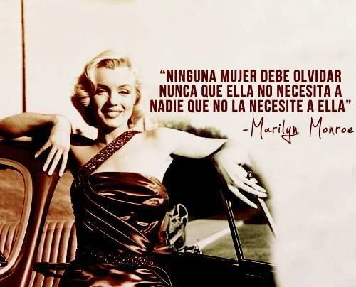 Marilyn Monroe frases.