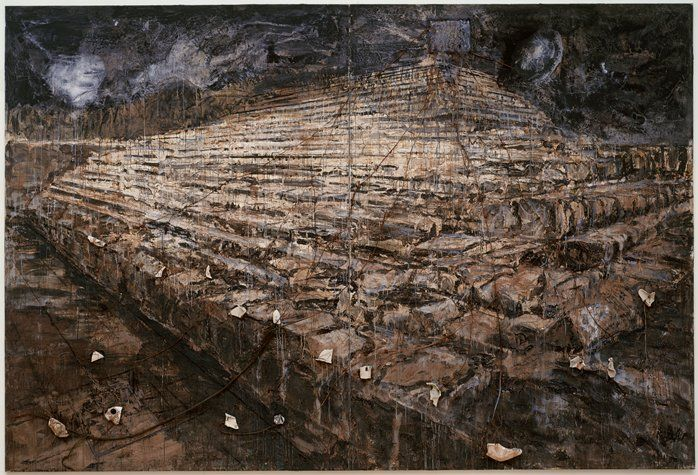 """Anselm Kiefer, """"Osiris und Isis (Osiris and Isis)"""" (1985-1987)   painting   oil and acrylic emulsion with additional three-dimensional media    Source: http://www.sfmoma.org/explore/collection/artwork/171#ixzz1jHFu7yXP   San Francisco Museum of Modern Art"""