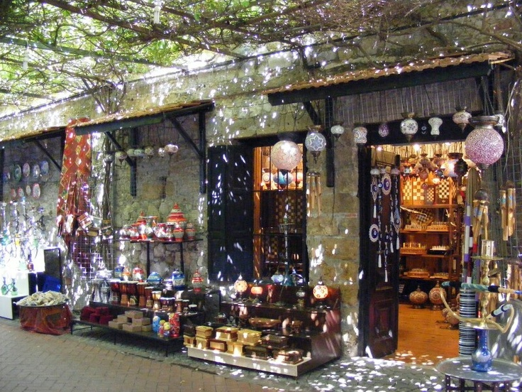 Fethiye old town shopping