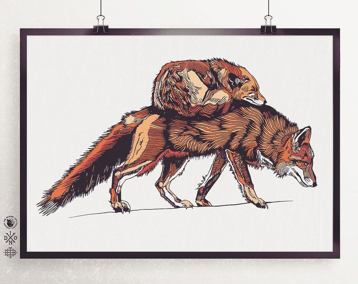 Foxeses Limited Edition Print - A2 - Signed, Stamped & Numbered by Luke Dixon  #illustration #drawing #limitededition #print #artwork #graphicdesign #lukedixon