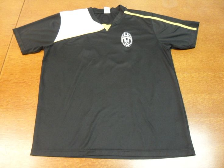 awesome Black Juventus Football Club Soccer Futbol Jersey Large L #27   Check more at http://harmonisproduction.com/black-juventus-football-club-soccer-futbol-jersey-large-l-27/