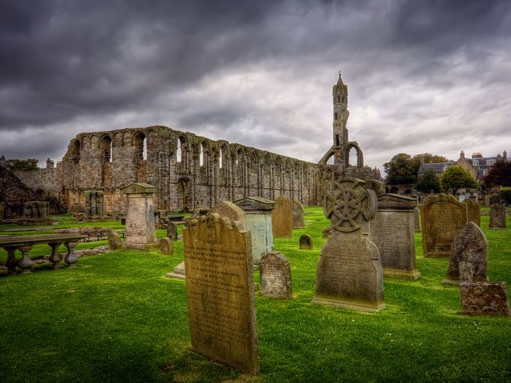 Some graveyard in Scotland. Creepy and beautiful, all at the same time. Kinda like a Tim Burton film, yeah? ok maybe that's a bad analogy...