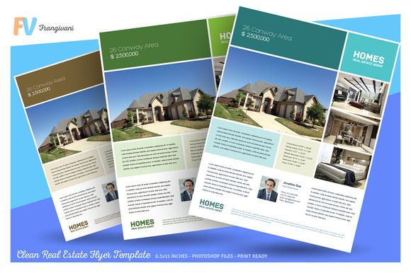 Clean Real Estate Flyer Template by frangivani on @creativemarket