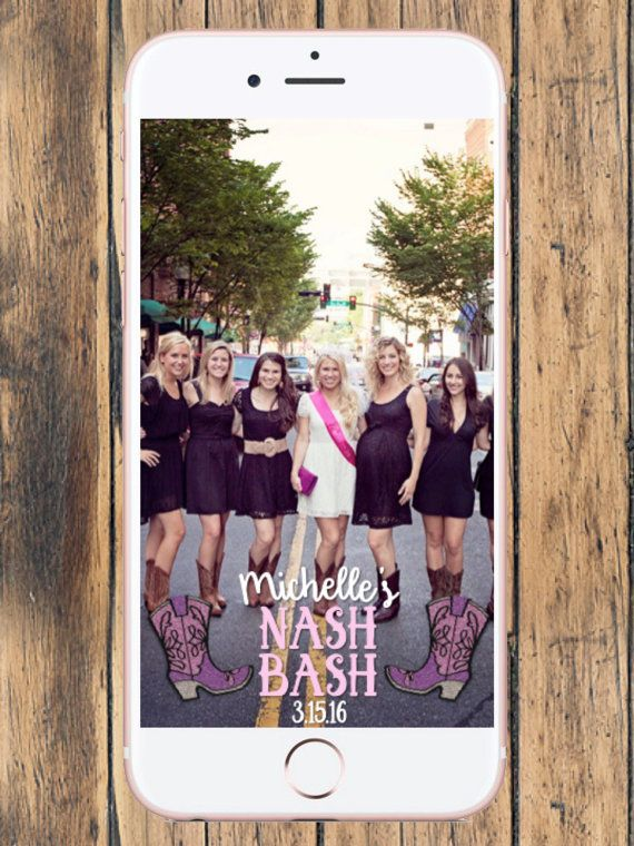 Nash Bash Snapchat Geofilter  - Nashville Bachelorette Party - Misty Moss Designs
