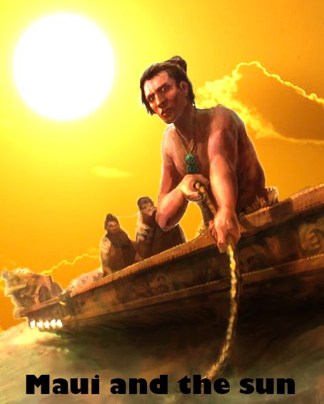 another poster design that has maui and his brothers on a canoe