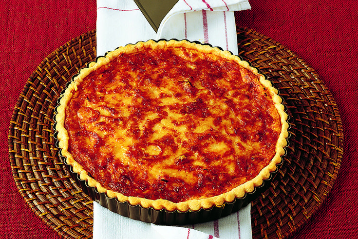 La Cucina Italiana Käsewähe  Torta di formaggio svizzero, con cipolle e gruyère