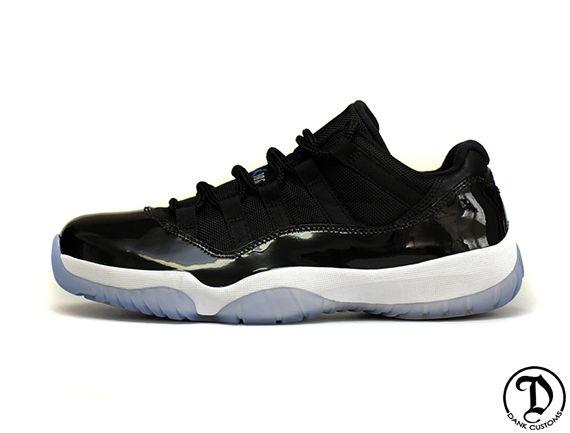 """Air Jordan XI Low """"Space Jam"""" by Dank Customs"""