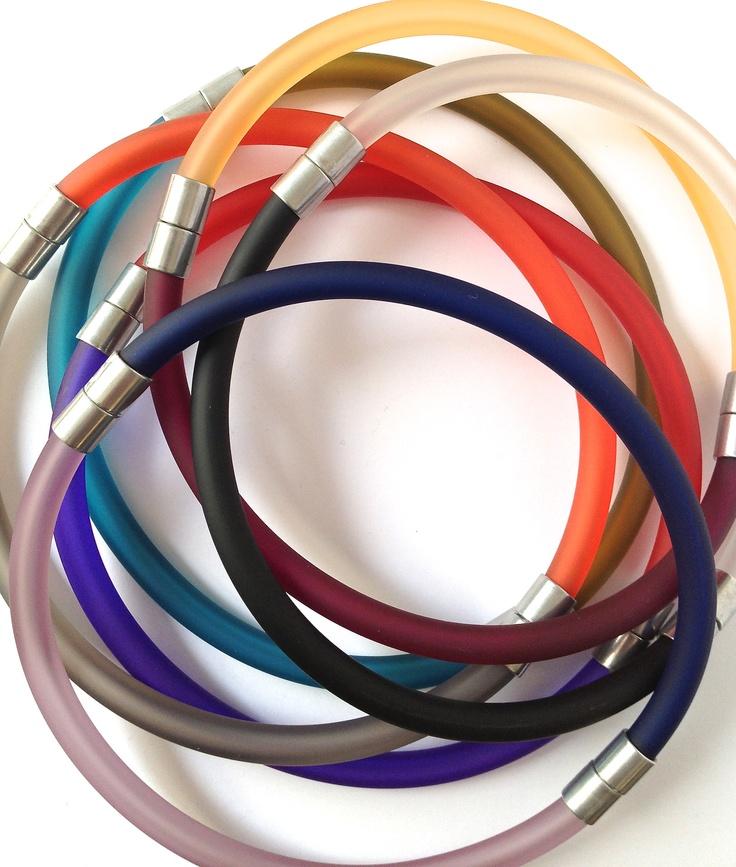 Two-tone chokers made using Click Bangles