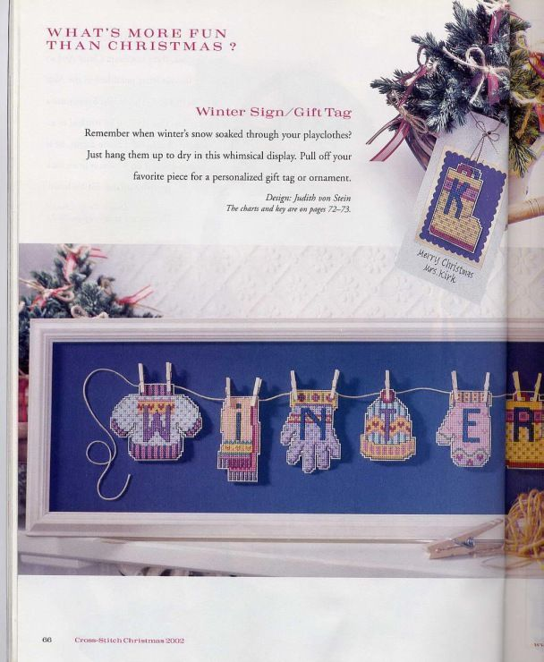 Winter Sign/Gift Tags 1 of 3