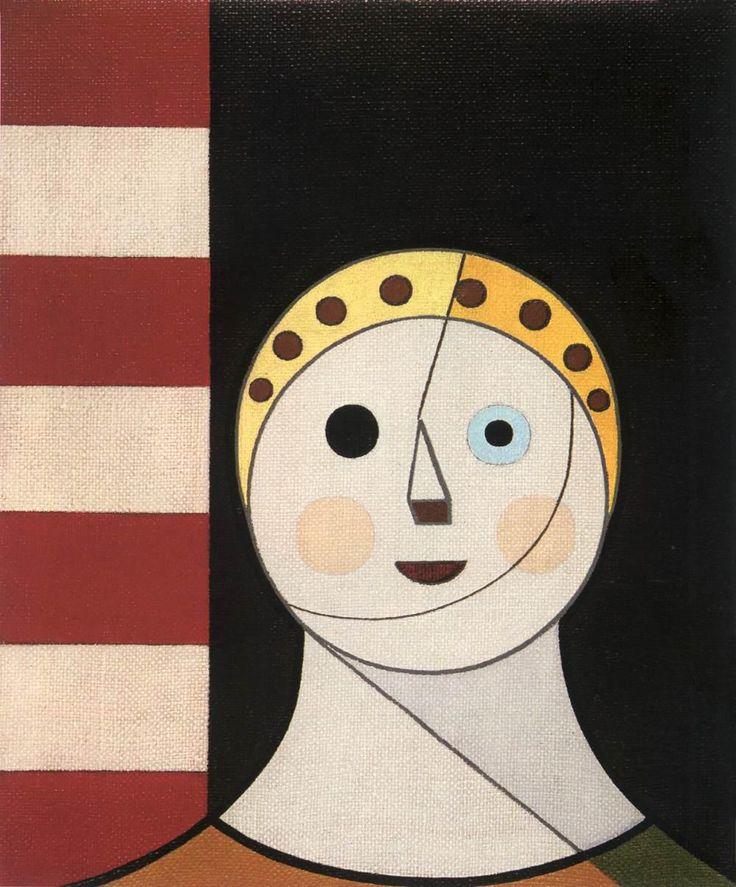 Dezso Korniss, Female Head (Caterina Cornaro), 1953