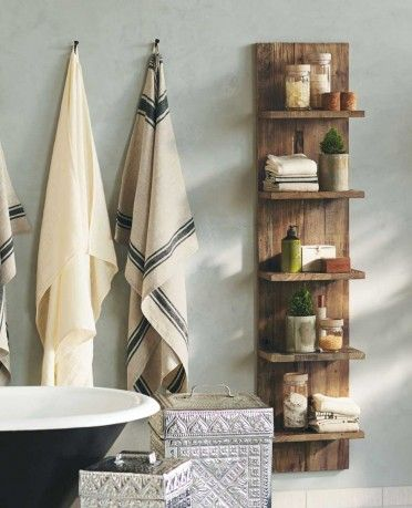 Can use timber from around the farm to build this for the bathroom. SHELF